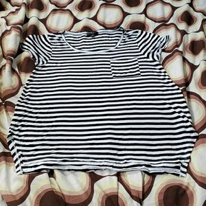 Women stripe spense knit maternity shirt size xl